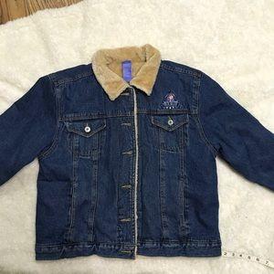 Disney 90s vintage demin jacket EEYORE SZ L